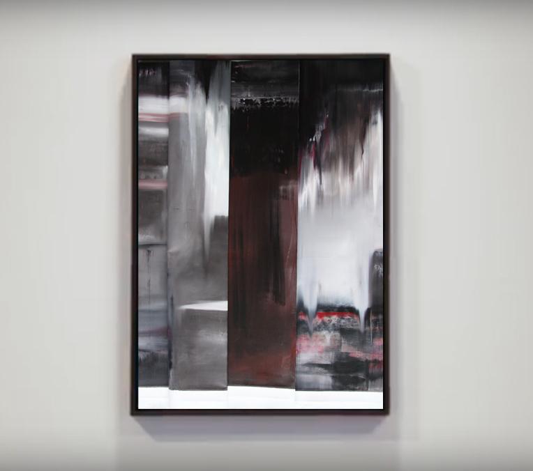faltung-faltung nr. 1-Öl auf Leinwand - 135 x 90 cm - 2017