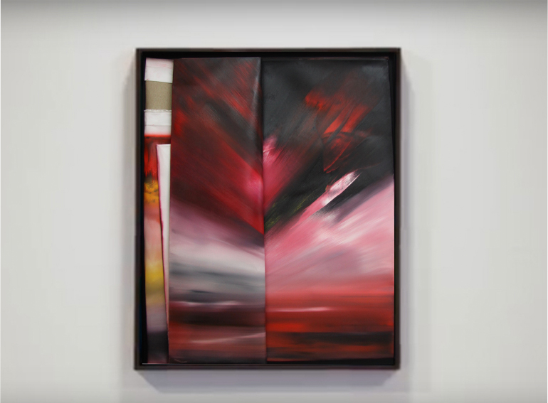 faltung-faltung nr. 3-Öl auf Leinwand - 100 x 80 cm - 2017