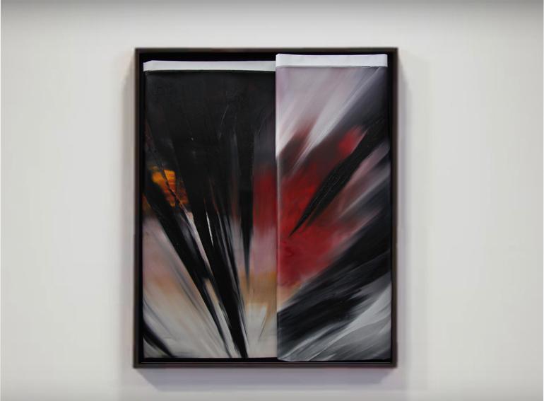 faltung-Faltung Nr. 2-Öl auf Leinwand - 100 x 80 cm - 2017