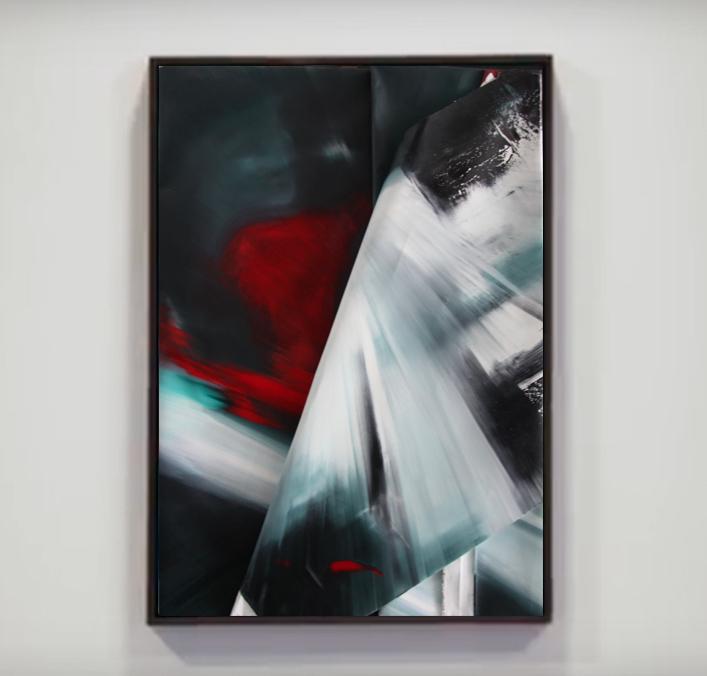 faltung-Faltung Nr. 7-Öl auf Leinwand - 155 x 110 cm - 2017