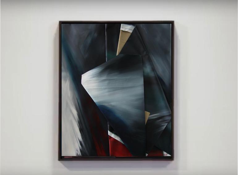 faltung-faltung nr. 10-Öl auf Leinwand - 124 x 103 cm - 2017