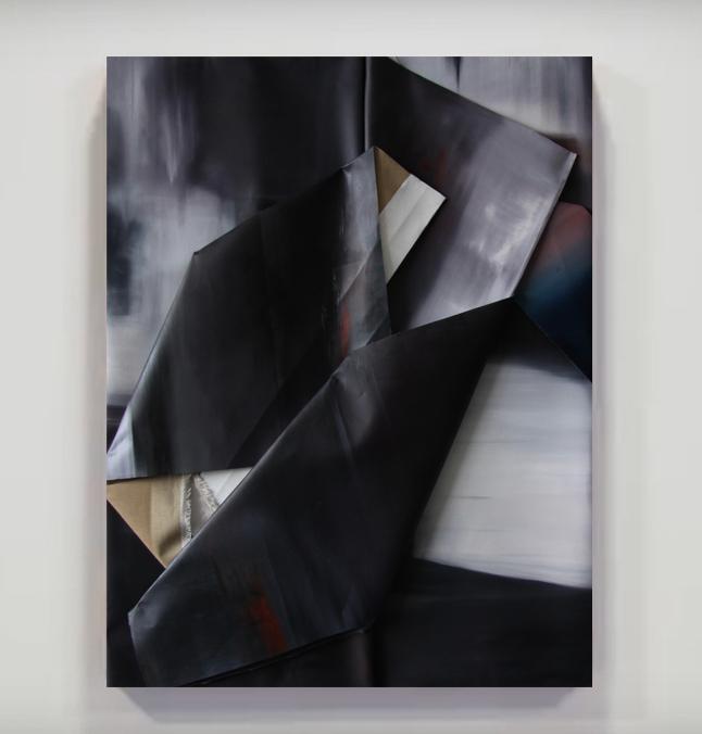 faltung-faltung nr. 11-Öl auf Leinwand - 123 x 93 cm - 2017