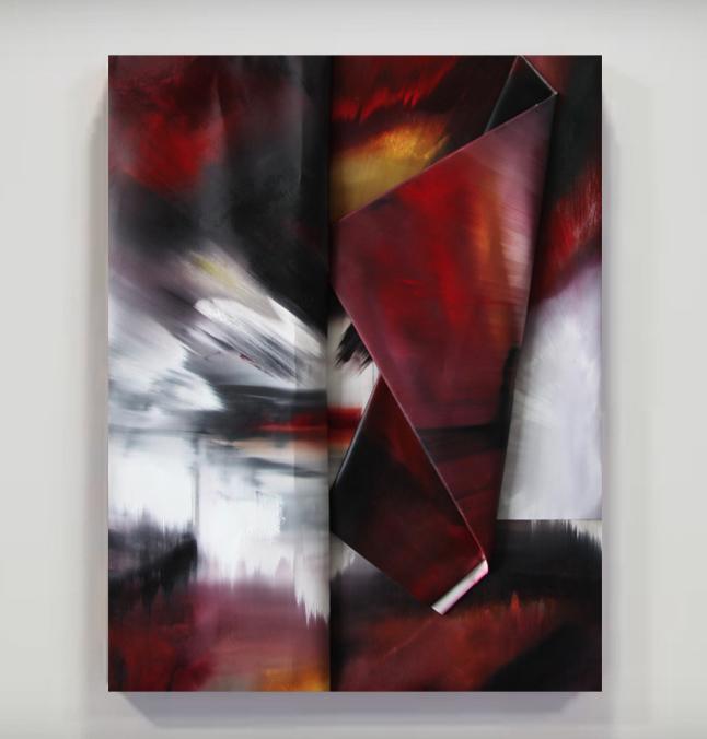 faltung-faltung nr. 8-Öl auf Leinwand - 133 x 103 cm - 2017