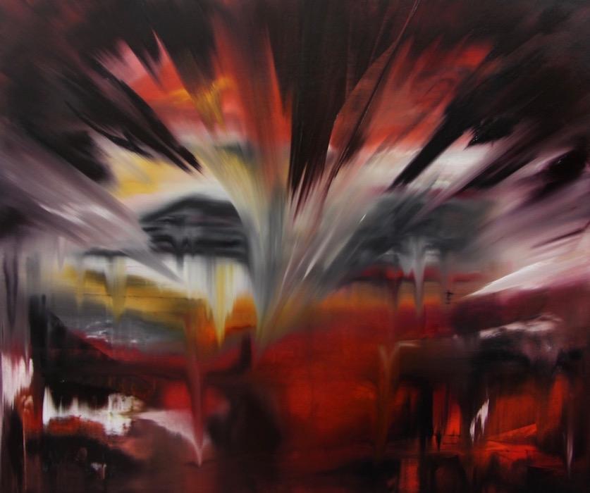 regime del tempo-Regime del tempo Nr. 2-Öl auf Leinwand - 150 x 180 cm - 2016
