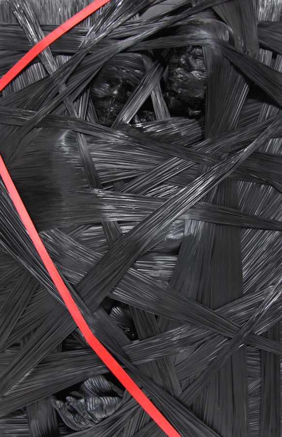 introspezione 2025-Introspezione 2015 Nr. 4-Aluminium und Strechfolie - 120 x 80 x 25 cm - 2012