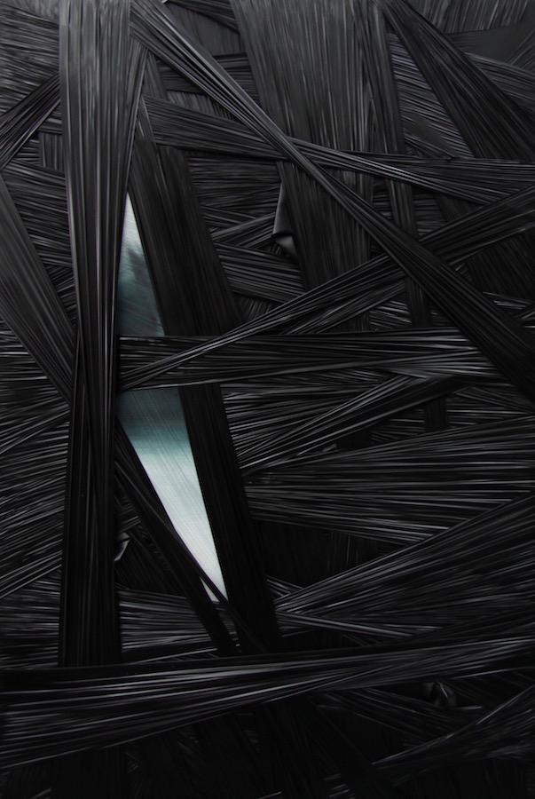 introspezione 2025-Introspezione 2025 Nr. 8-Holz - Öl auf Leinwand - Strechfolie - 60 x 90 x 4,5 cm - 2016