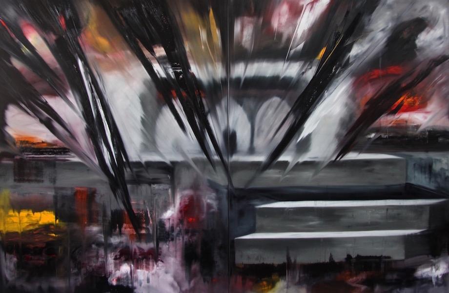regime del tempo-Regime del tempo Nr. 17-Öl auf Leinwand - 240 x 360 cm - 2016