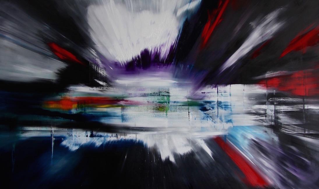 impatto-Impatto Nr. 5-Öl auf Leinwand - 180 x 300 cm - 2015