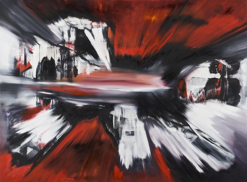 impatto-Impatto Nr. 1-Öl auf Leinwand - 200 x 270 cm - 2015