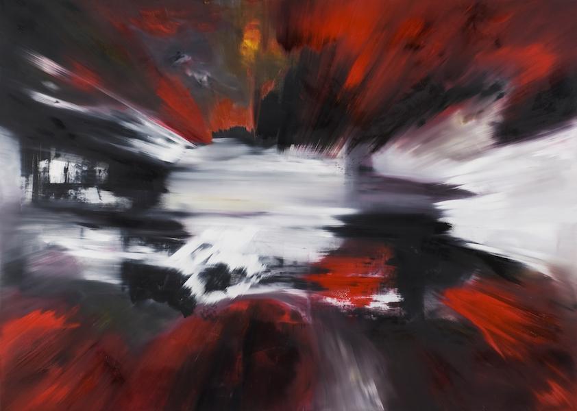 impatto-Impatto Nr. 4-Öl auf Leinwand - 180 x 250 cm - 2015