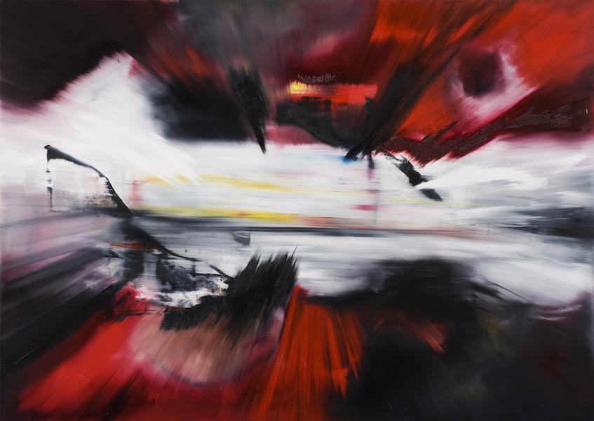 impatto-Impatto Nr. 6-Öl auf Leinwand - 180 x 250 cm - 2015