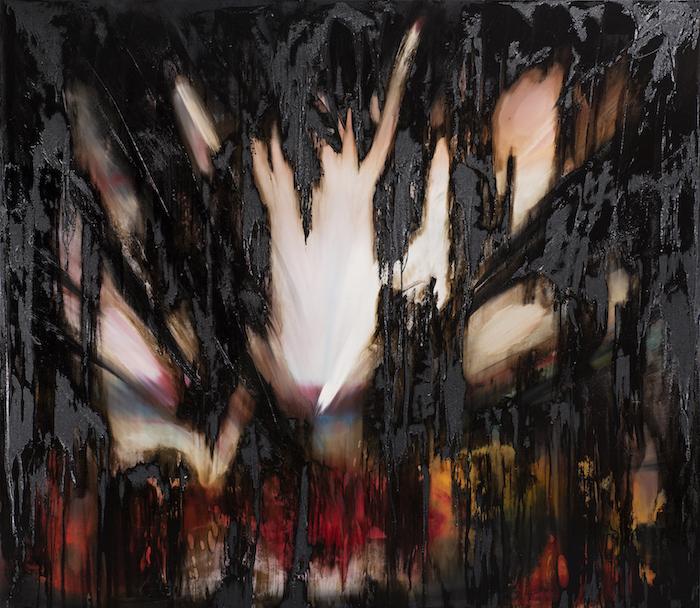 Bitumen_Übermalungen-Bitumen_Übermalungen Nr. 2-Öl auf Leinwand und Bitumen - 200 x 230 cm - 2017