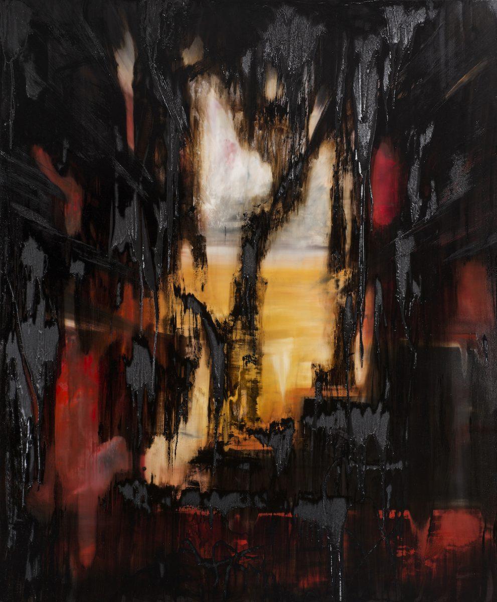 Bitumen_Übermalungen-Bitumen_Übermalungen Nr. 1-Öl auf Leinwand und Bitumen - 230 x 190 cm - 2017