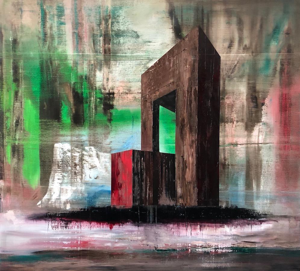 Manifest der Stille-Manifest der Stille Nr. 12 - Hommage an Giorgio de Chirico-Öl auf Leinwand - 180 x 200 cm - 2019