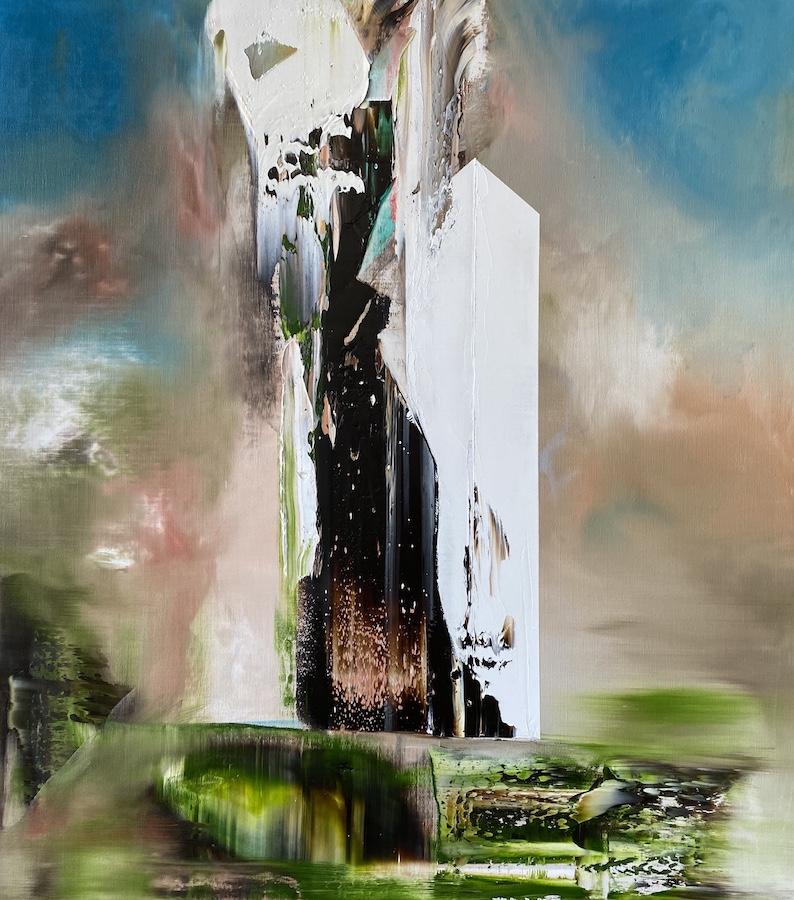Manifest der Stille-Manifest der Stille 38-Öl auf Leinwand - 90 x 80 cm -2020