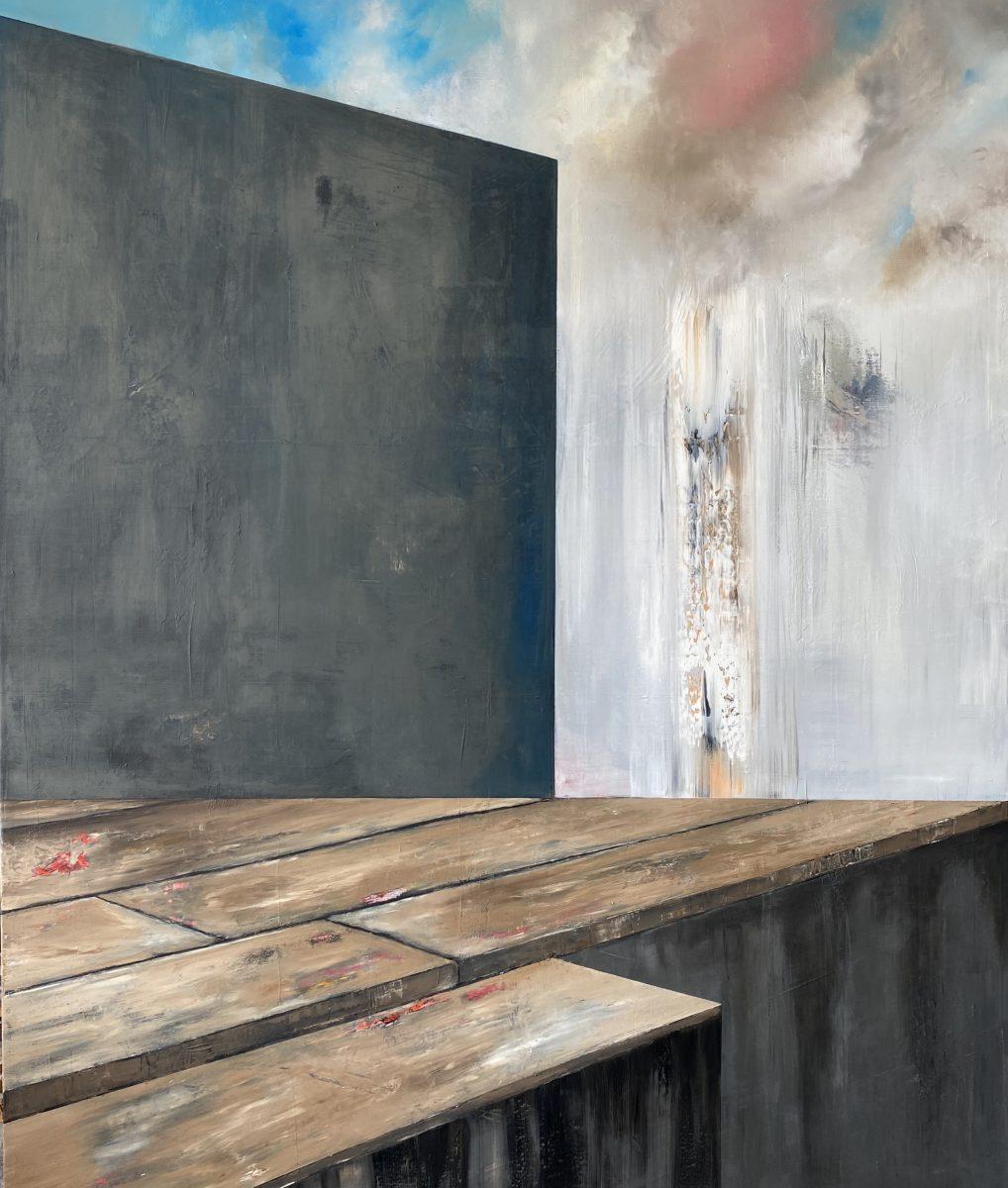 Il suono del tempo-Il suono del Tempo  Nr. 6-Öl auf Leinwand - 240 x 200 cm - 2020