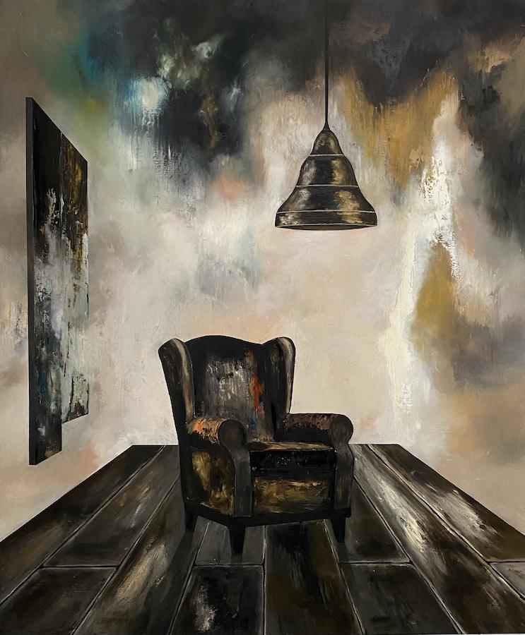 Il suono del tempo-il suono del tempo 3-Öl auf Leinwand - 240 x 200 cm - 2021