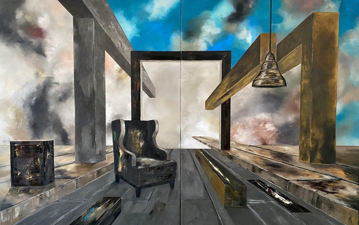 Il suono del tempo-Il suono del Tempo  Nr. 13-Öl auf Leinwand - 260 x 400 cm - 2021