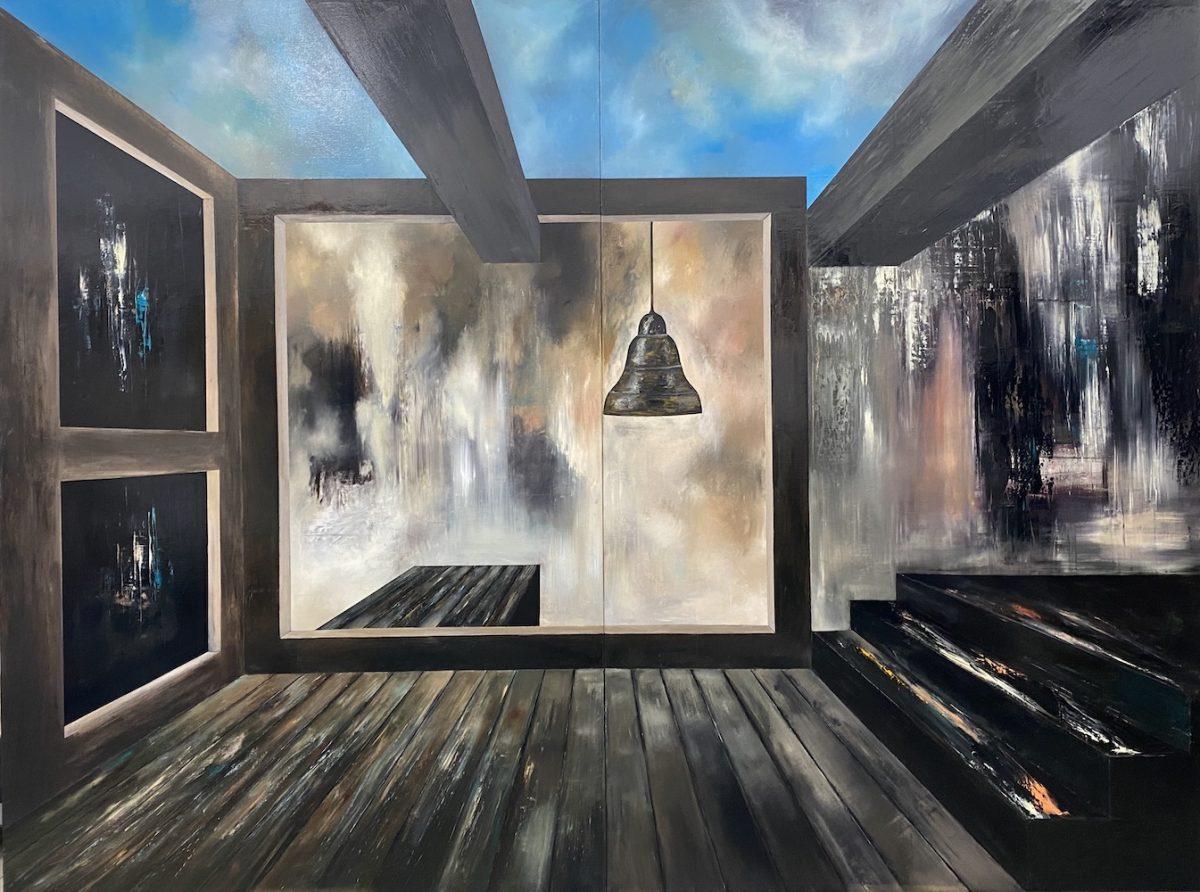 Il suono del tempo-Il suono del Tempo Nr. 5-Oil on canvas - 300 x 400 cm - 2020