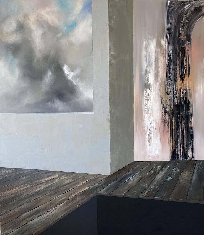 Il suono del tempo-Il suono del Tempo Nr. 4-Öl auf Leinwand - 230 x 200 cm - 2020