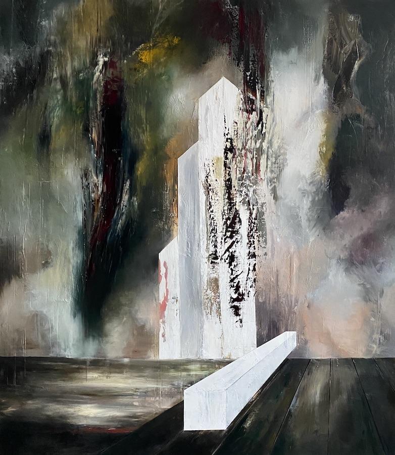Manifesto del tempo-Manifest del tempo 13-Oil on Canvas - 230 x 200 cm - 2021